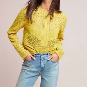 James Coviello Eyelet Lace Blouse